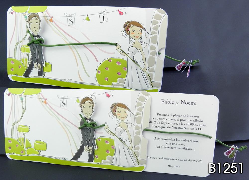 Invitaciones para boda gr ficas anfer - Modelos de tarjetas de boda ...